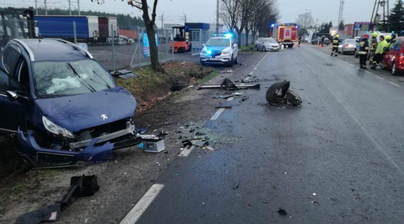 wypadek Mosina fot. policja