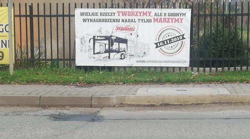 zapowiedź protestu fot. FB NSZZ Solidarność w Solaris Bus Coach S.A.