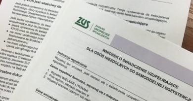 ZUS wniosek fot. mat. pras.