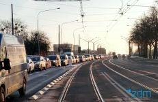 krolowej jadwigi 2 fot. zdm - Poznań: Koniec z blokowaniem tramwajów na moście Królowej Jadwigi. Jest wysepka