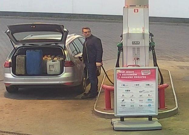 Mężczyzna ze stacji paliw 2 fot. KPP Międzychód