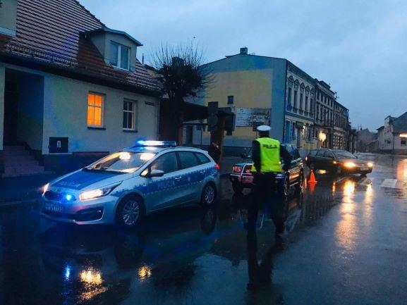Potrącenie pieszej fot. KPP Międzychód