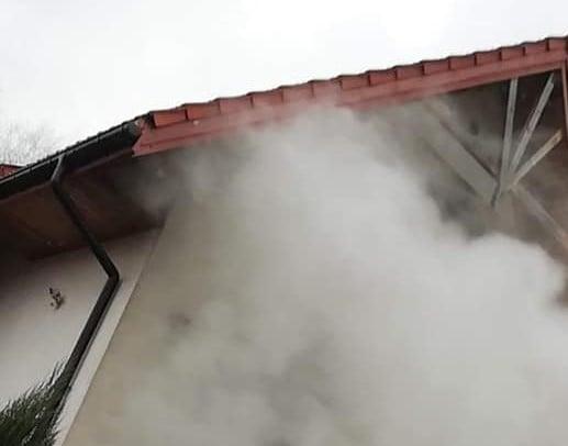Pożar fot. OSP Sompolno