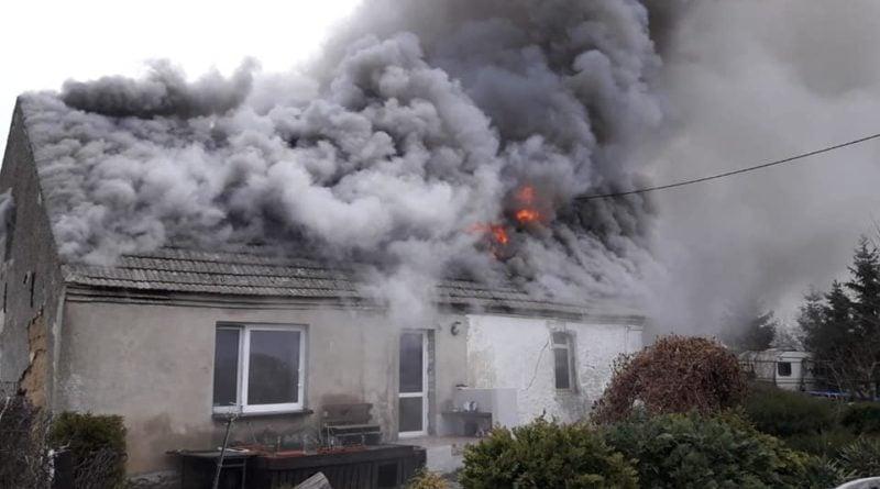 Pożar w Niemczynie 2 fot. OSP Damasławek