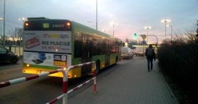 Śródka autobusy w korkach fot. ZTM