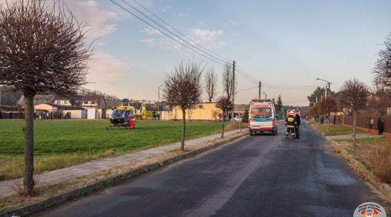 strazacy ochotnicy w akcji 2 fot. osp kozmin wlkp. 800x445 - Koźmin Wielkopolski: Śmigłowiec LPR, kolizja drogowa i strażacy ochotnicy