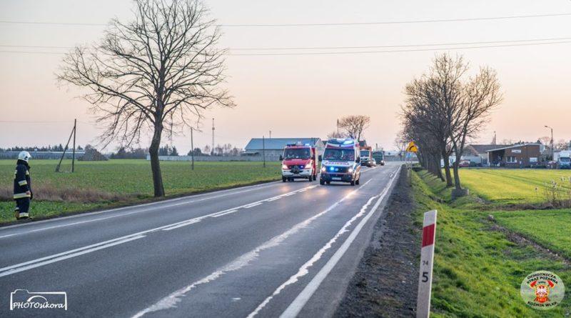 strazacy ochotnicy w akcji 8 fot. osp kozmin wlkp. 800x445 - Koźmin Wielkopolski: Śmigłowiec LPR, kolizja drogowa i strażacy ochotnicy