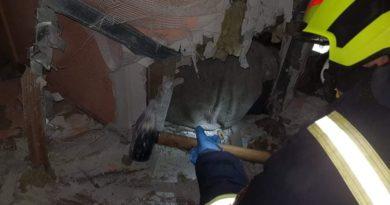 Uwięziony w łazience 3 fot. OSP Rogoźno