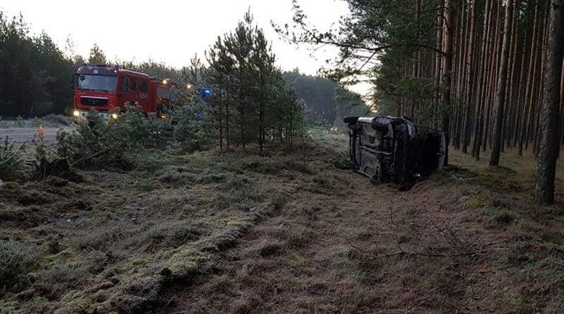 Wypadek drogowy Radawnica-Lędyczek fot. PSP Złotów