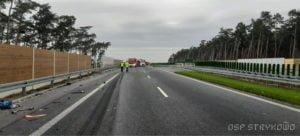 wypadek na s5 fot. osp strykowo 9 300x136 - Pierwsza śmiertelna ofiara na trasie S5. Szczegóły wypadku ustala policja