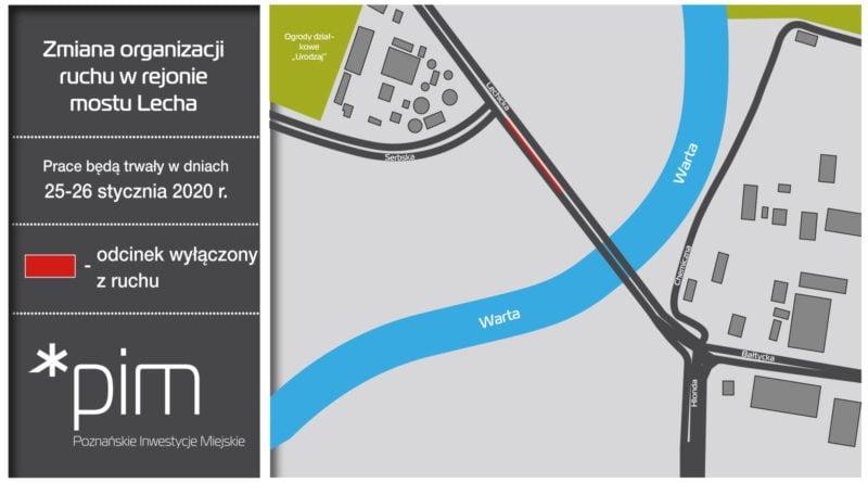 most lecha 3 fot. pim 800x445 - Poznań: Weekendowe prace na moście Lecha. Znowu będzie ciężko przejechać?