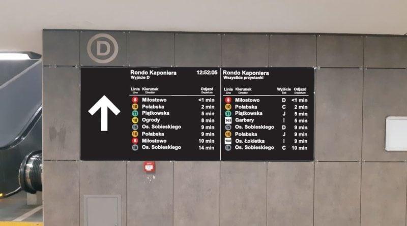 najbliższe odjazdy tablica informacyjna fot. ump