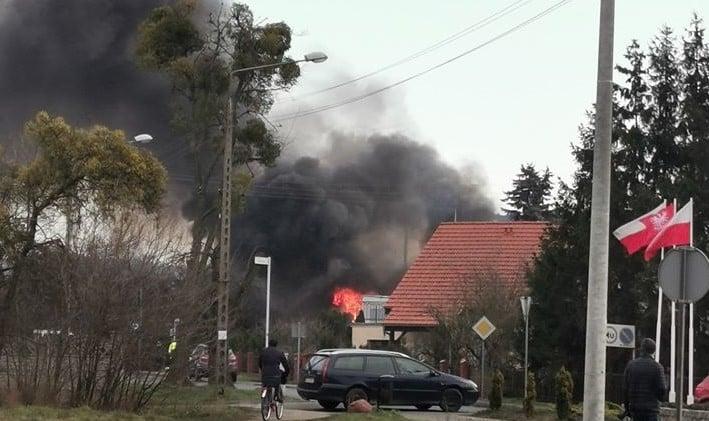 Pniewy: Pożar budynku gospodarczego przy Konińskiej