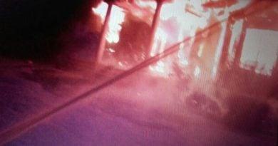 Pożar Biskupińska fot. KMPSP