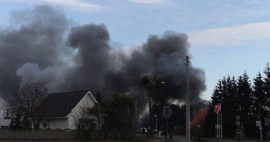 Pożar archiwum fot. OSP Pniewy