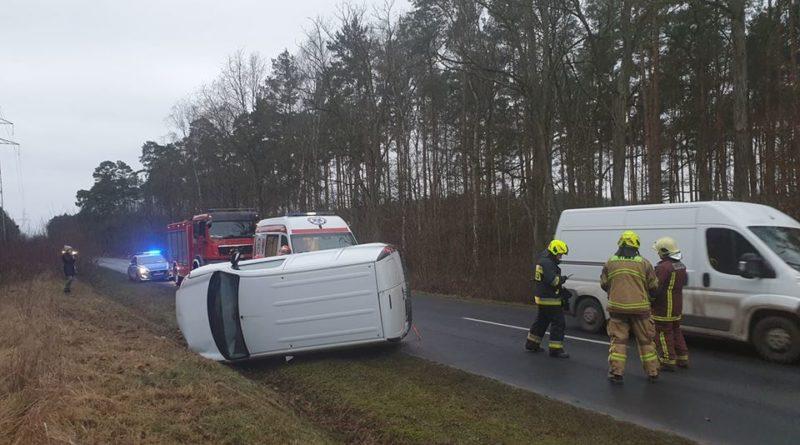 Wypadek fot. OSP Mosina