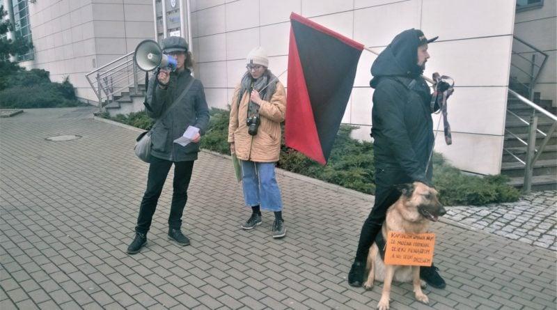 demonstracja w sprawie drzew 1 800x445 - Poznań: Społecznicy demonstrowali w obronie drzew. przed Atanerem