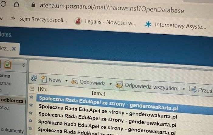 poczta 1 701x445 - Poznań: Spam zablokował skrzynkę poznanskiej radnej. Z powodu... równości