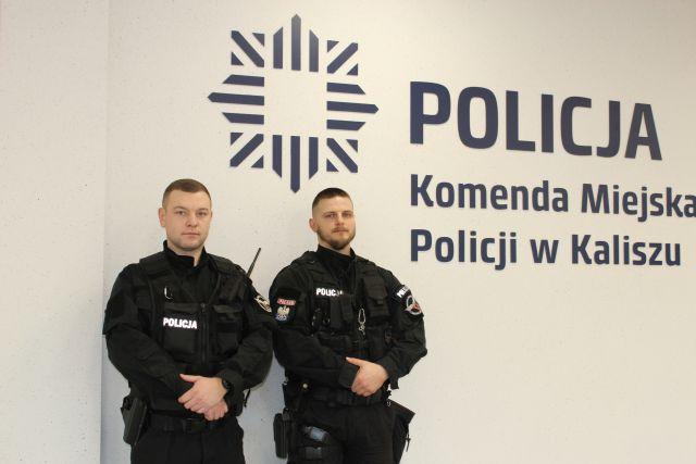 policjanci Kalisz fot. policja