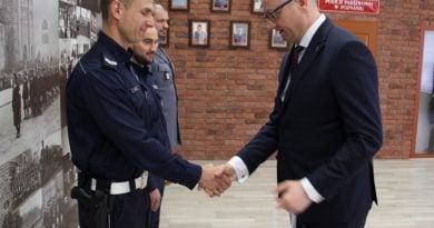 Policjanci ze Speed z wizytą u wojewody 4fot. KWP