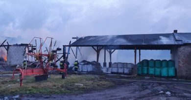 pożar 2 OSP Kiszkowo