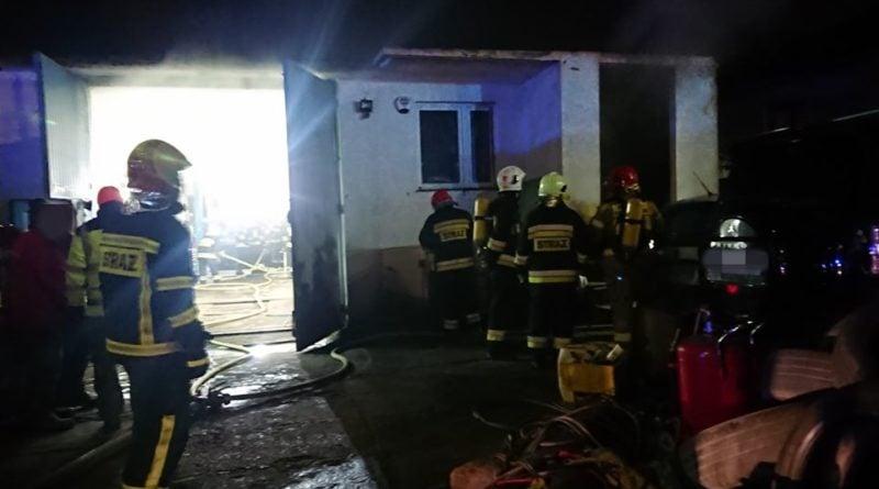 pożar fot. OSP Tarnowo Podgórne