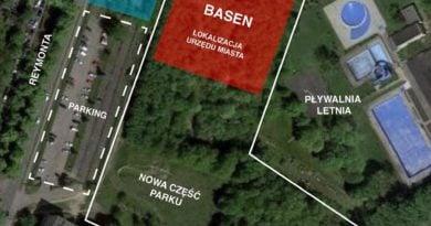 projekt basenu w parku kasprowicza 390x205 - Poznań: Budowa pływalni w parku Kasprowicza - miasto wydało oświadczenie