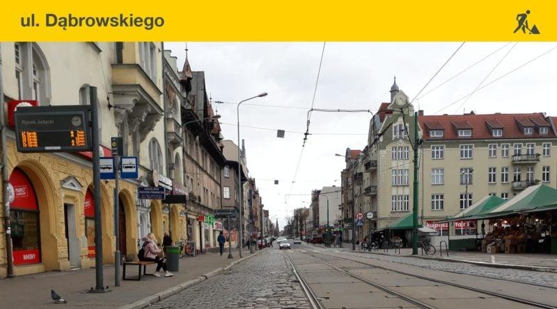 remonty dabrowskiego fot. ump 800x445 - Poznań: Ponowne wstrzymanie ruchu tramwajów na Dąbrowskiego. Tym razem do rana