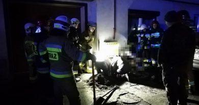 wyciek gazu fot. OSP Pakosław