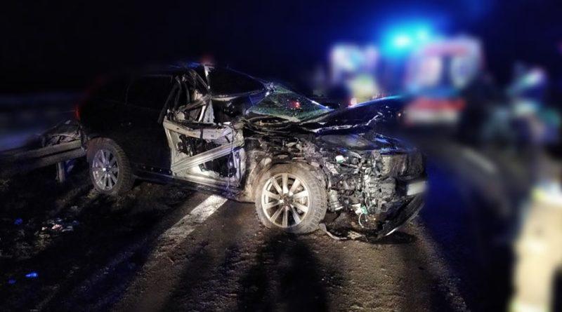 wypadek 2 fot. osp golina 1 800x445 - Konin: Wypadek na A2. Jedna osoba ranna