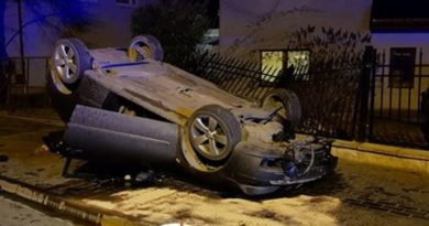 wypadek fot. OSP Luboń