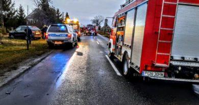 Witkowo: Zderzenie dwóch samochodów. Dwie osoby z obrażeniami
