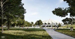 arena zewnatrz wizualizacja 3 fot. cdf architekci 300x156 - Poznań: Tak będzie wyglądała Arena po przebudowie