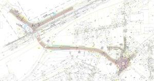 mapka polozenia tunelu fot. umig swarzedz 300x159 - Swarzędz: Tunel pod torami w rejonie ul. Tabaki – powstaje dokumentacja