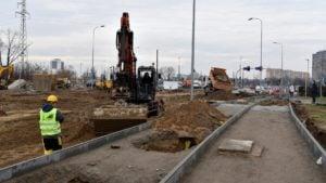 petla unii lubelskiej 5 fot. pim 300x169 - Poznań: Trasa tramwajowa przy Unii Lubelskiej na półmetku