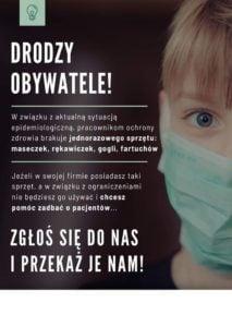 pomoic 2 fot. fb 213x300 - Poznań: Sprzętu i środków ochrony jest za mało - ale poznaniacy donoszą!