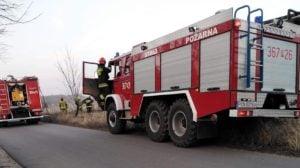 pozar 2 fot. osp golina  300x168 - Konin: Pożar w Kawnicach