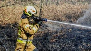 pozar fot. osp golina  300x169 - Konin: Pożar w Kawnicach