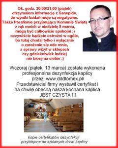 wynik badania czapury fot. fb 240x300 - Poznań: Proboszcz parafii w Czapurach jest zdrowy!