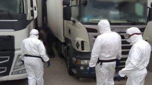 cudzoziemcy 1 fot. sg 300x169 - Poznań: Nielegalni imigranci przyjechali ciężarówką z... pyrami