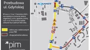 gnieznienska4 fot. pim 300x169 - Poznań: W nocy zmieni się organizacja ruchu na Gdyńskiej