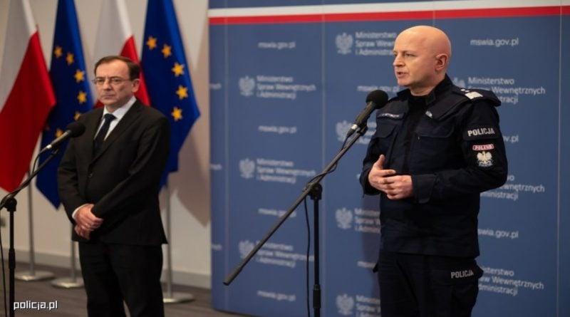 minister Mariusz Kamiński, generał Jarosław Szymczyk fot. policja