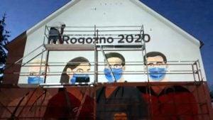 mural rogozno 2 fot. fb 300x169 - Rogoźno: W podzięce dla służby zdrowia.... namalowali mural!