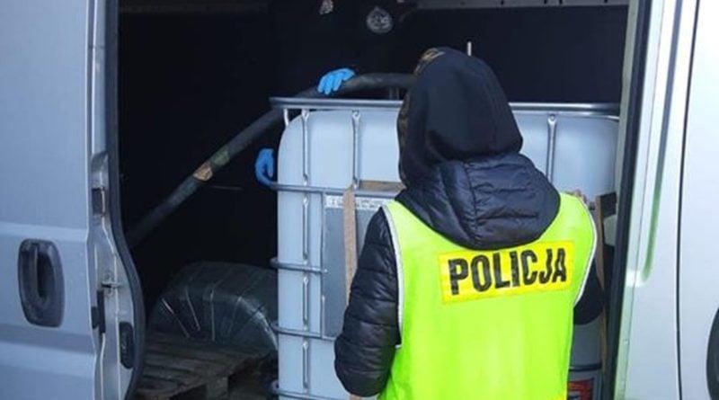 płyn do dezynfekcji fot.policja