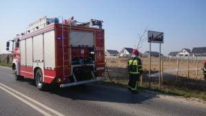 pozar traw 2 fot. osp tarnowo podgorne 300x169 - Tarnowo Podgórne: Pożar traw