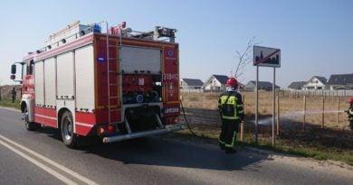 pozar traw 2 fot. osp tarnowo podgorne 390x205 - Tarnowo Podgórne: Pożar traw