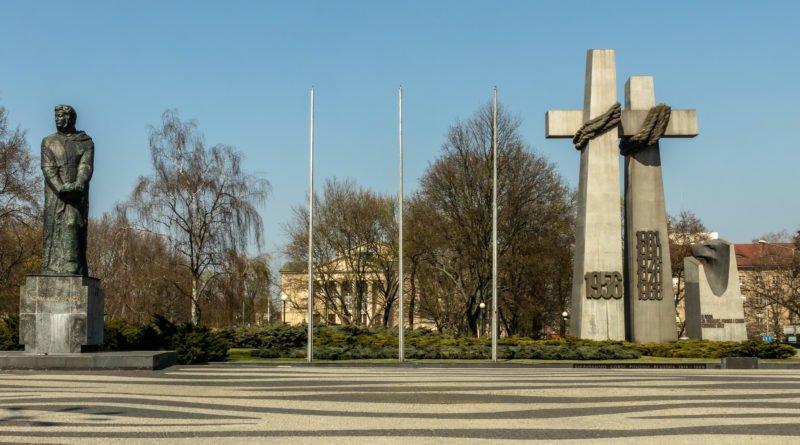 Plac Adama Mickiewicza Poznań epidemia covid koronawirus fot. Sławek Wąchała