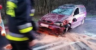 wypadek fot. OSP Dąbrówka Leśna
