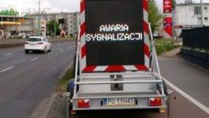 awaria fot. zdm 300x169 - Poznań: Kolejne sygnalizacje świetlne uszkodzone - bo kierowca jechał za szybko...