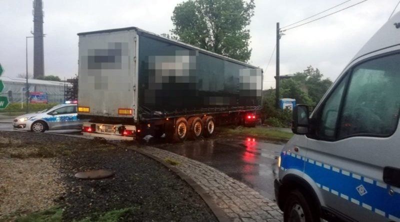 ciężarówka fot. policja Kalisz